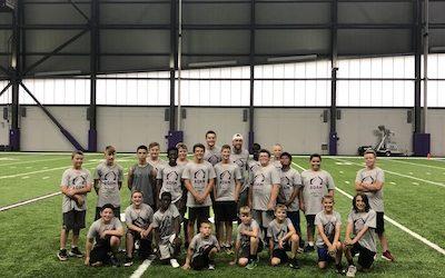 First-ever Adam Thielen Youth Football Camp Recap
