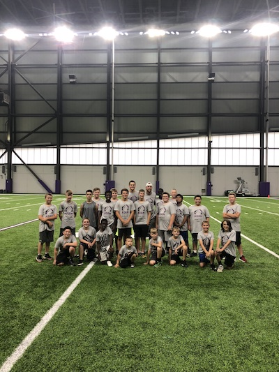 First-ever Adam Thielen Youth Football Camp Recap